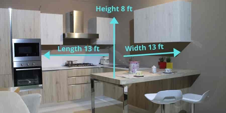 kitchen chimney height calculation