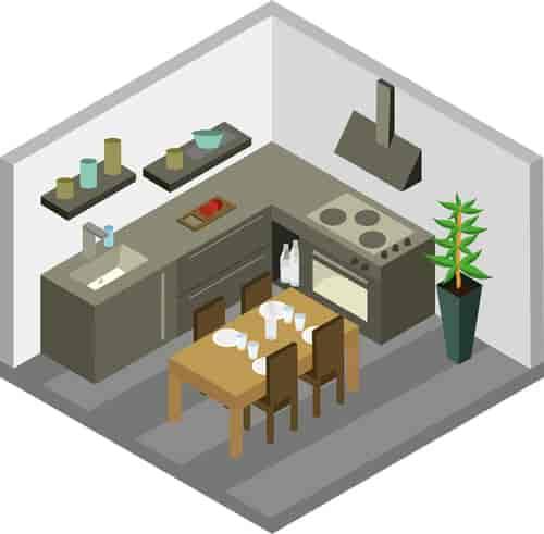 Chimney in Kitchen