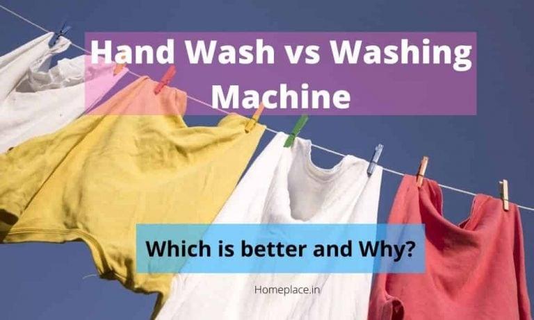 Hand wash vs washing machine