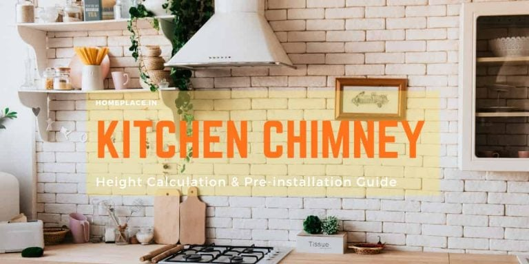 kitchen chimney height calculation and installation