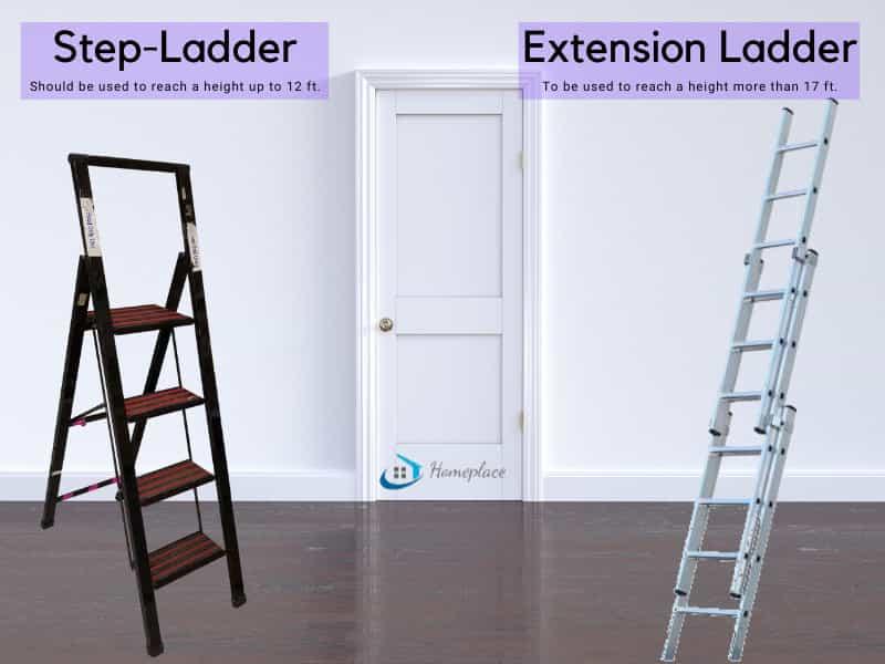 Step ladder vs extension ladder