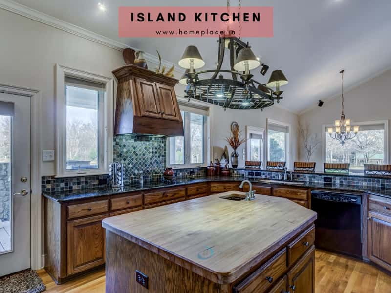 island kitchen design idea