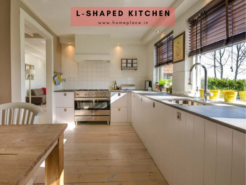 L-shaped kitchen design idea
