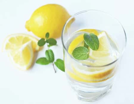 lemon water to cool down