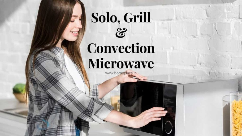 difference between solo, grill and convection microwave