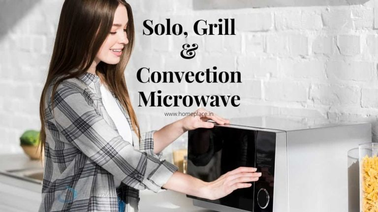 difference between solo, grill and convection microwave ovens