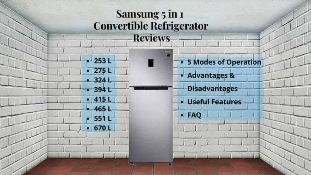 samsung 5 in 1 convertible refrigerator review