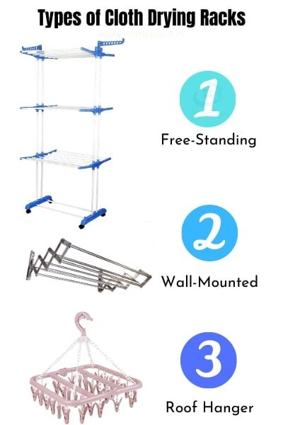 Types of cloth drying stands