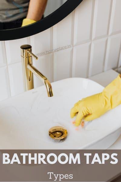 types of bathroom taps