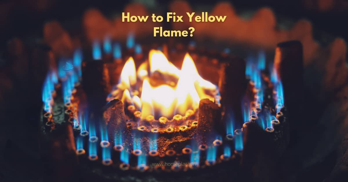 How to fix yellow and orange flames on gas stove burner