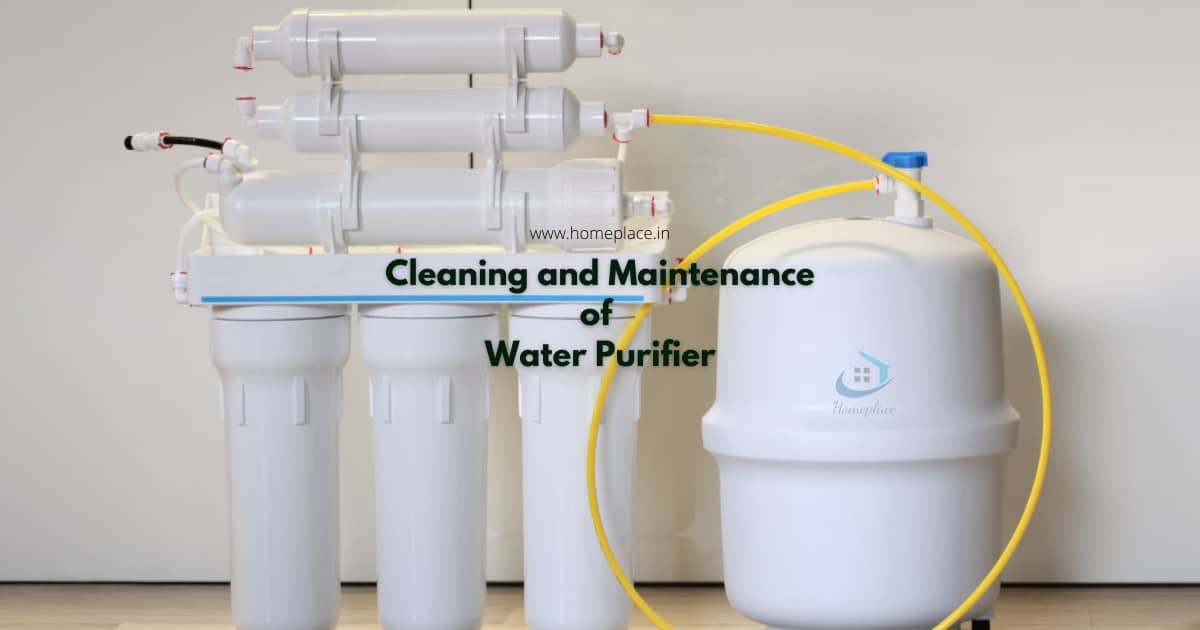 cleaning and maintenance of water purifier