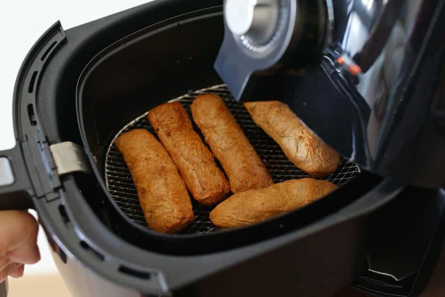 frying on air fryer