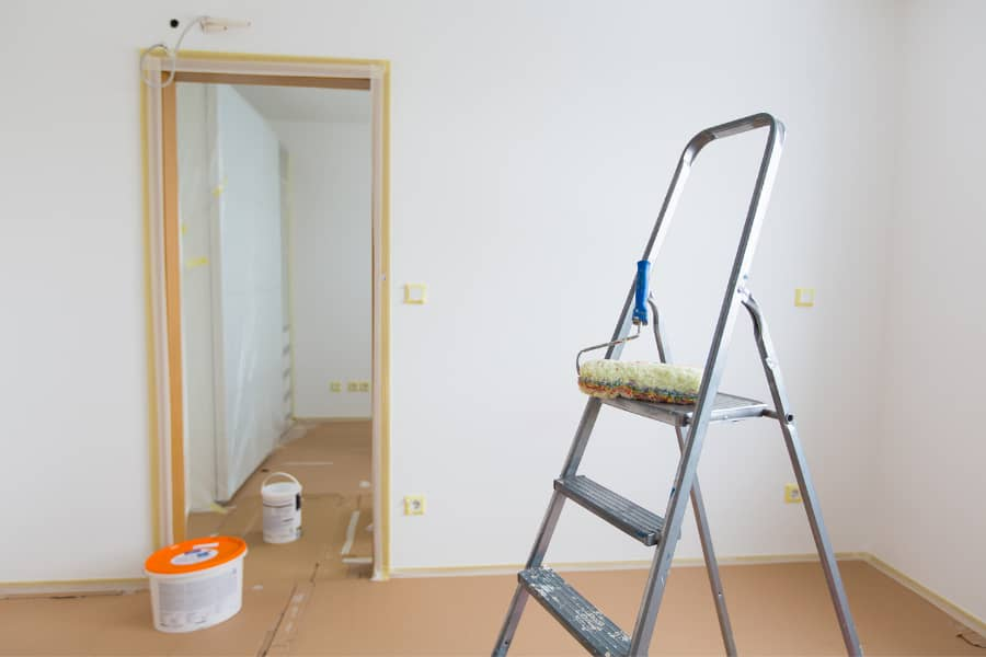 maintenance with ladder