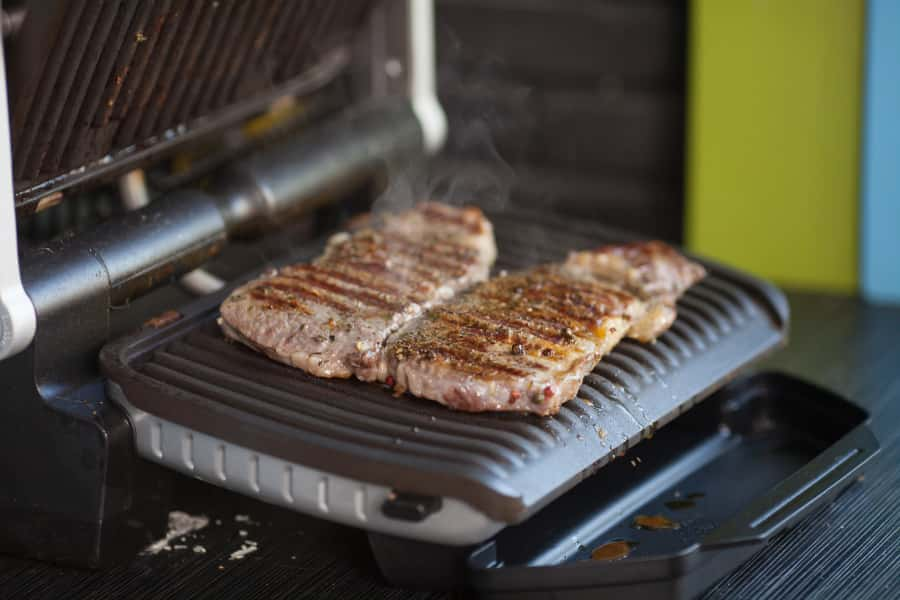 using an electric barbecue grill