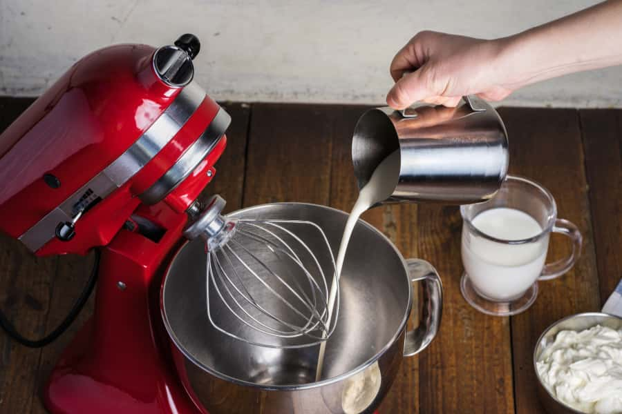 using a stand mixer