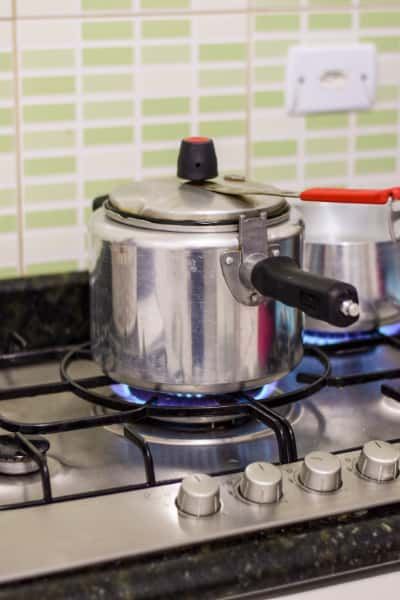 working with pressure cooker