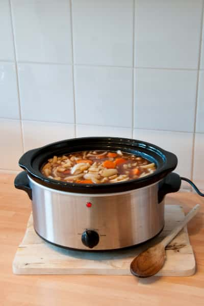 working with slow cooker