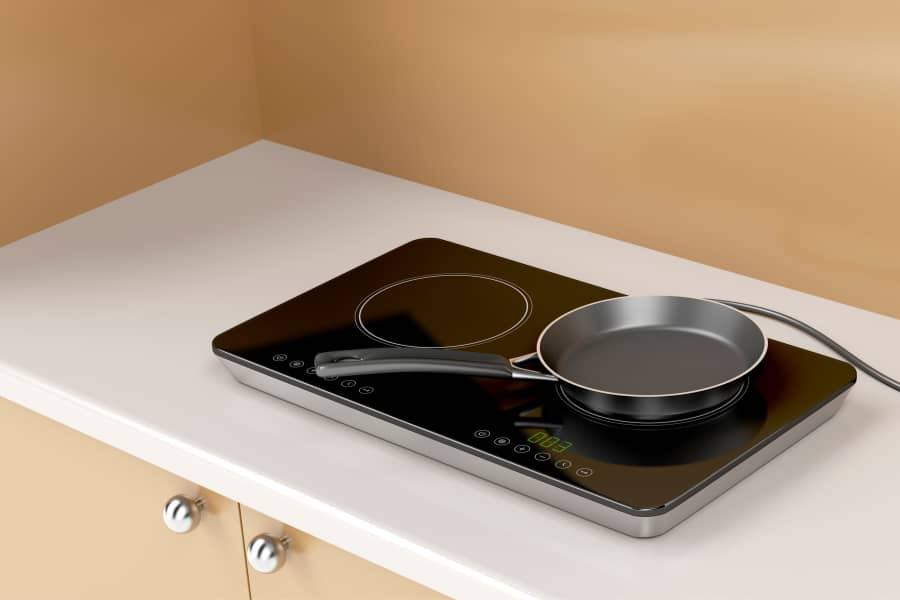 an induction cooktop