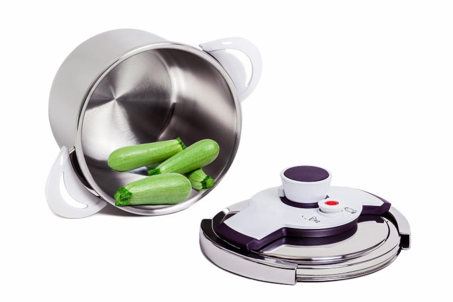 electric pressure cooker with vegetable