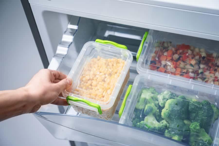 food storage of side by side refrigerator