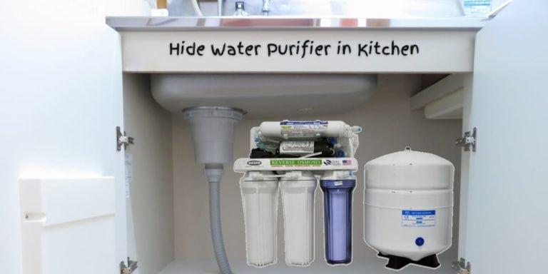hide water purifier in kitchen