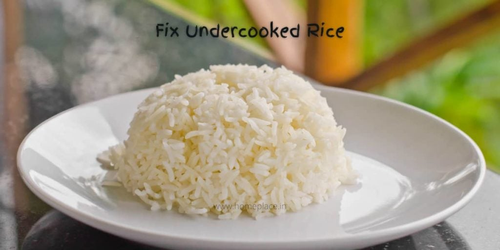 identify and fix undercooked rice