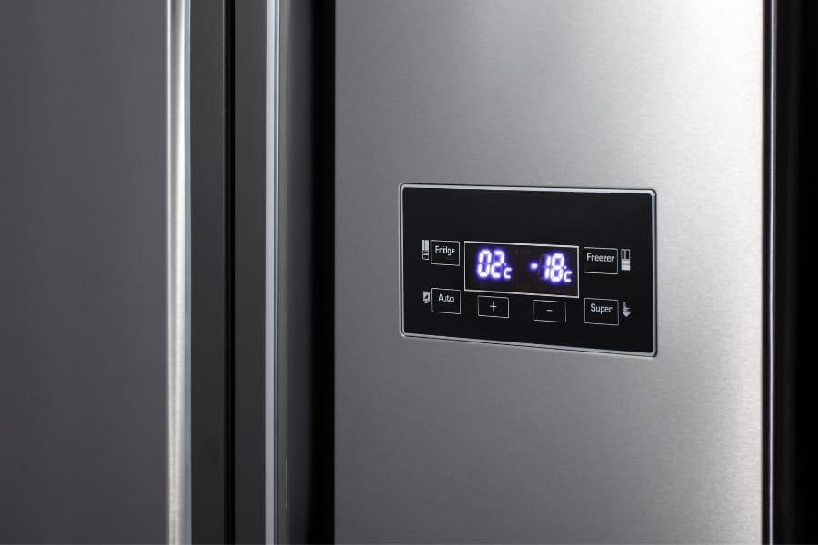 side by side refrigerator digital display