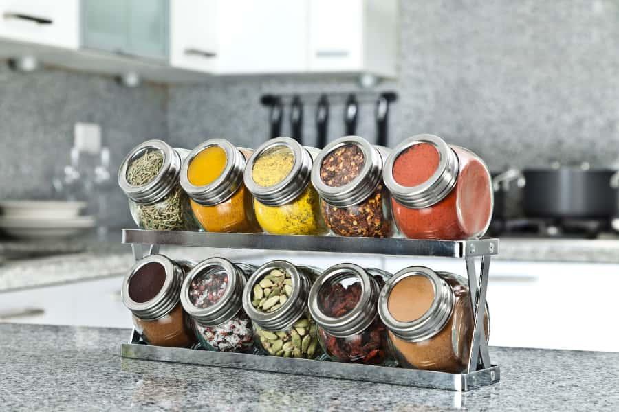 spice rack organizer in kitchen