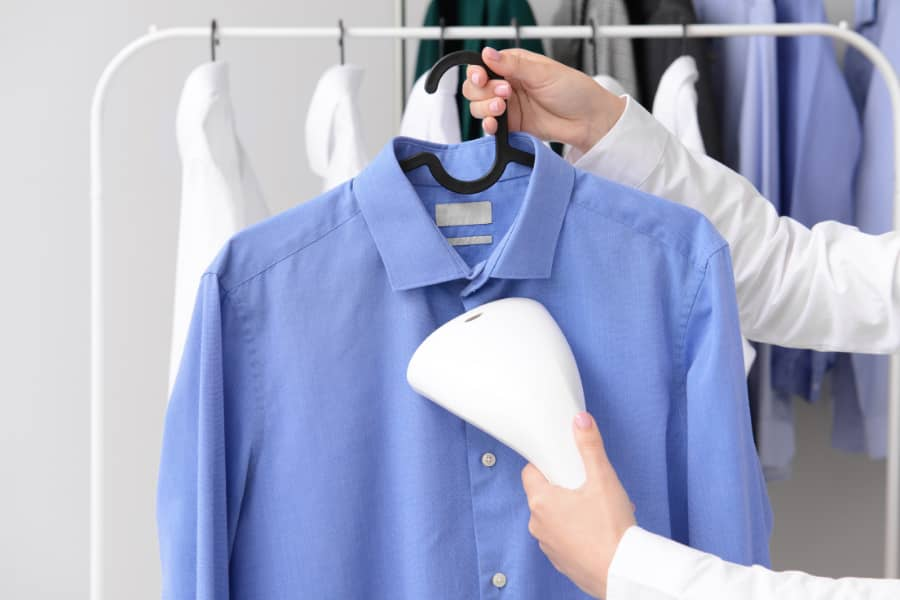 steaming clothes