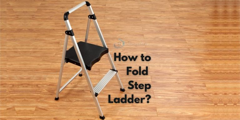 how to fold step ladder