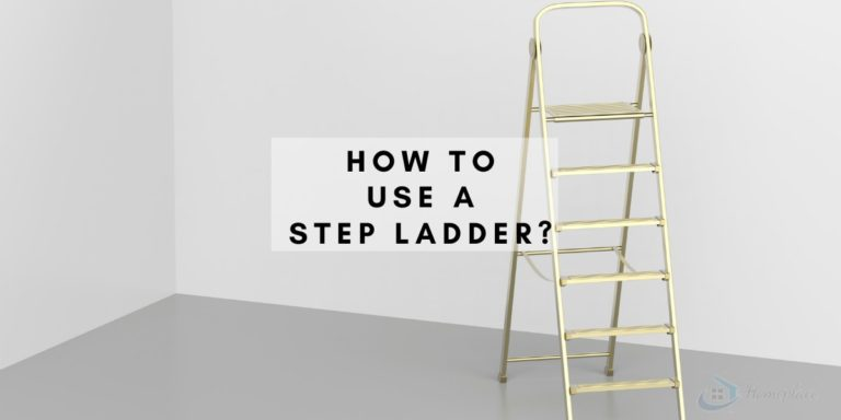 how to use a step ladder