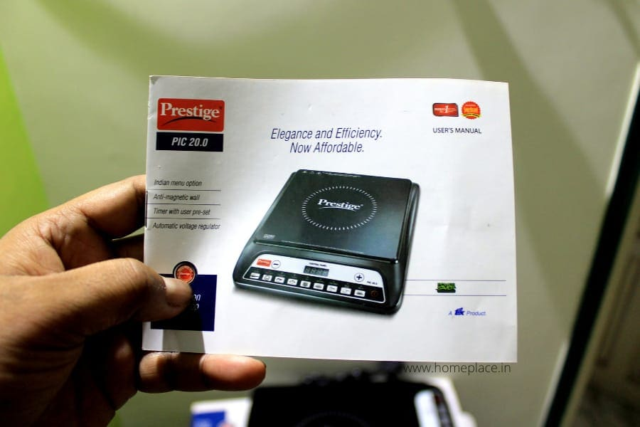 instruction manual for Prestige PIC 20 Induction Cooktop