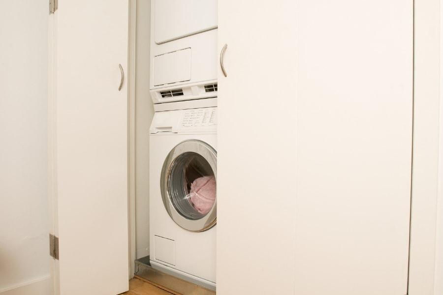 stacking dishwasher and washing machine