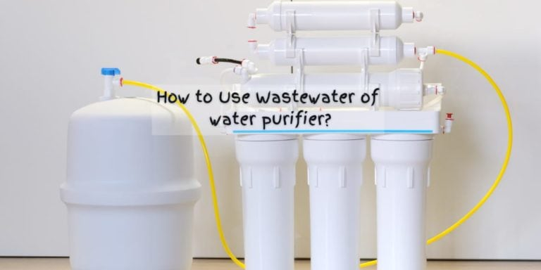 use wastewater of ro water purifier