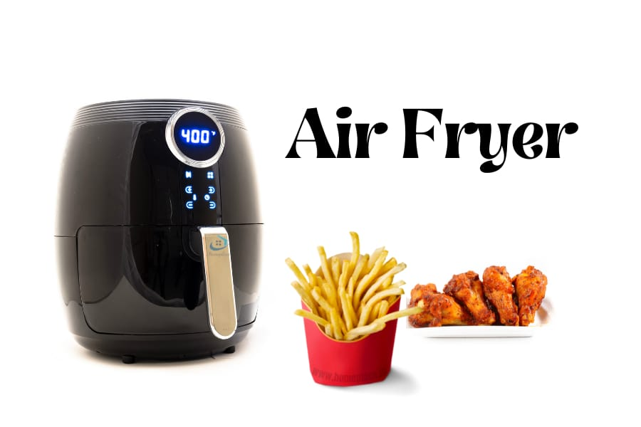 an air fryer with fries