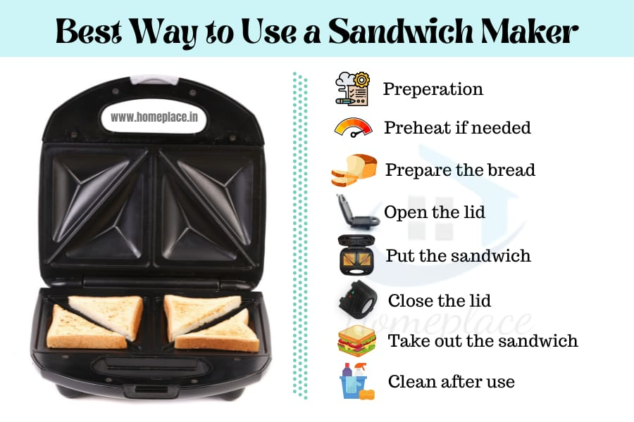 best way to make sandwich maker step-by-step