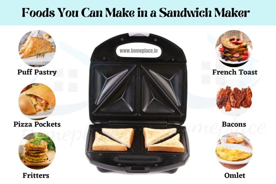 foods you can make in a sandwich maker