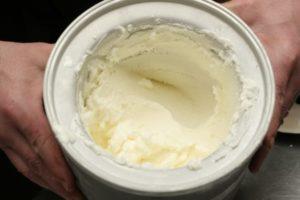 ice cream in maker