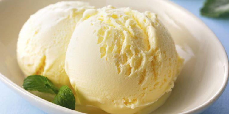 ice cream made in an ice cream maker