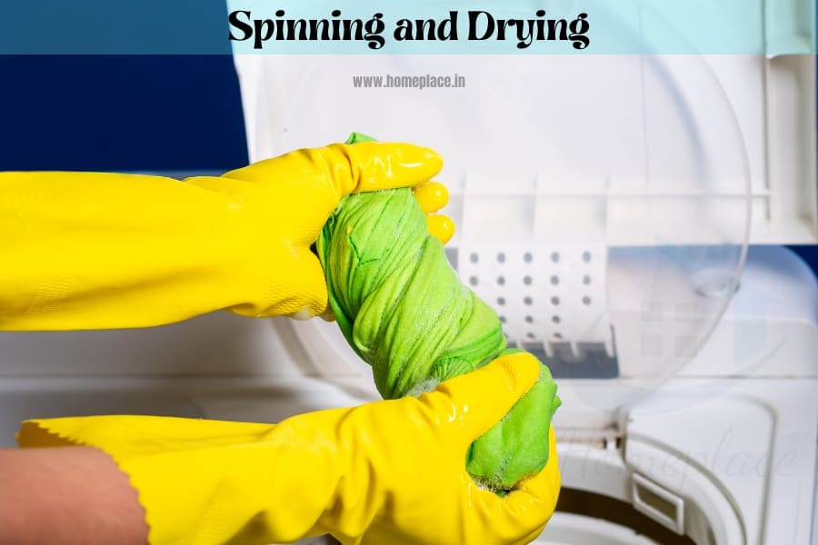 spinning and drying your laundry