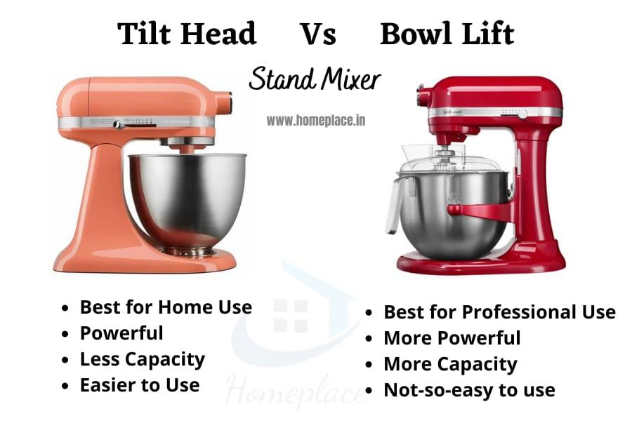 tilt head vs bowl lift stand mixer