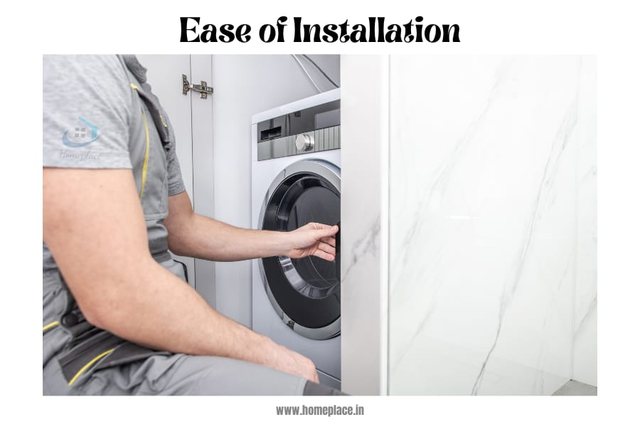 top load vs front load washing machine ease of installation
