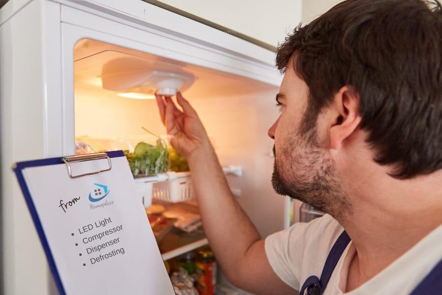 Inbuilt LED lightof side by side refrigerator