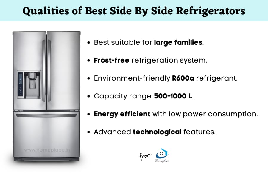 qualities of best side by side refrigerators in India