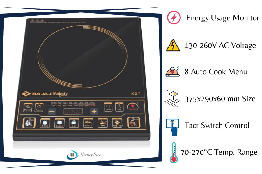 Bajaj Majesty ICX 7 1900 watt Induction Cooktop