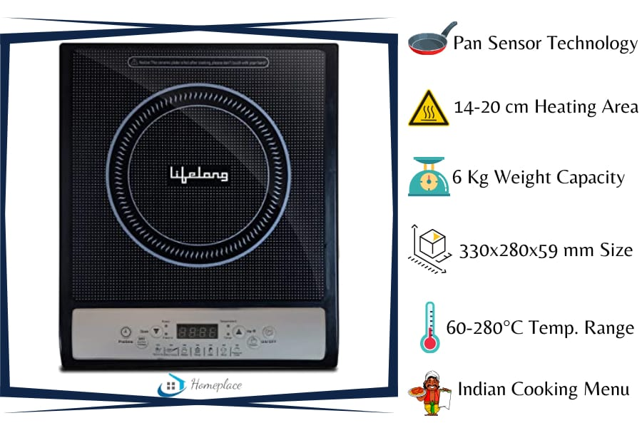 Lifelong Inferno LLIC20 1400 watt Induction Cooktop