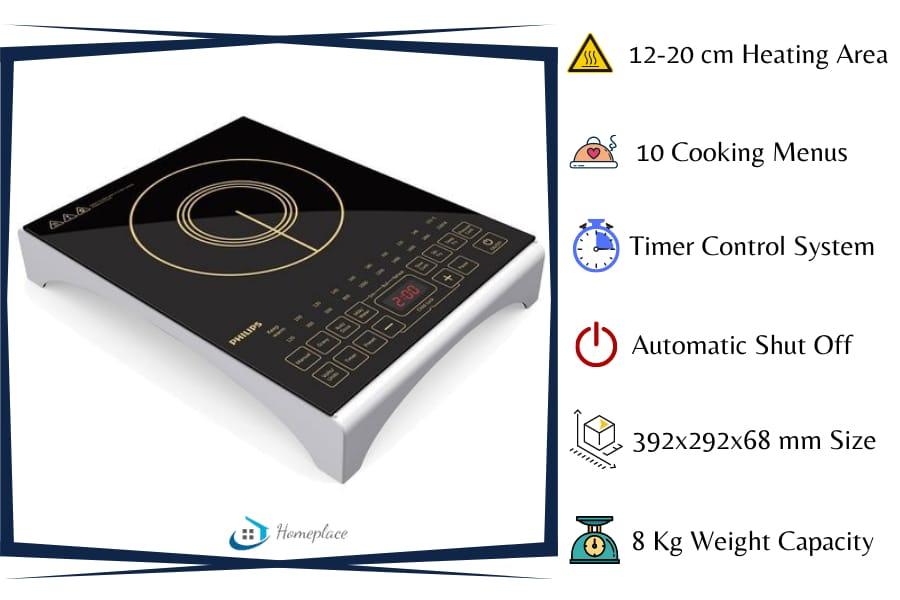 Philips Viva Collection HD493801 2100 watt Induction Cooktop