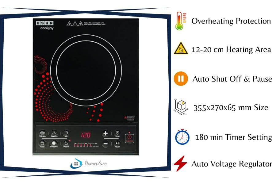 Usha Cook Joy 1600 watt Induction Cooktop