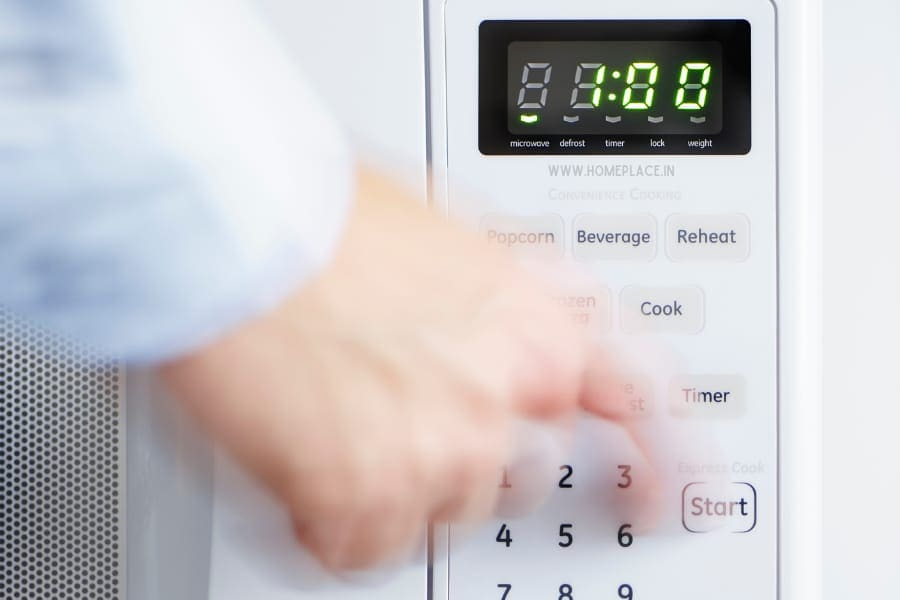 digital display of convection microwave oven